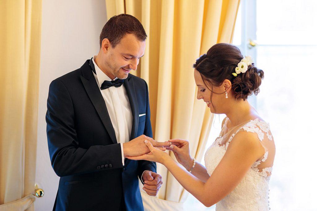 Die Ringe werden getauscht auf Schloss Reckahn