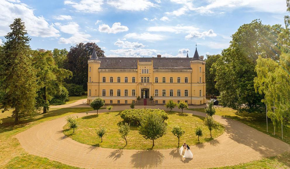Hochzeitsfoto Schloss Kroechlendorff in der Uckermark