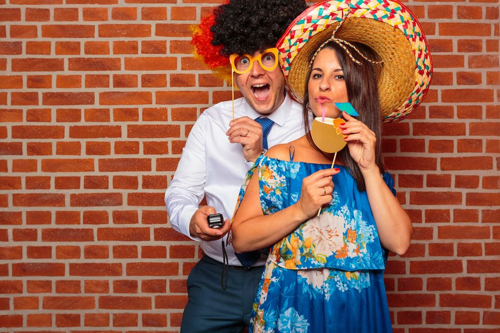 Fotobox Action bei einer Hochzeit im Landgut Stoer