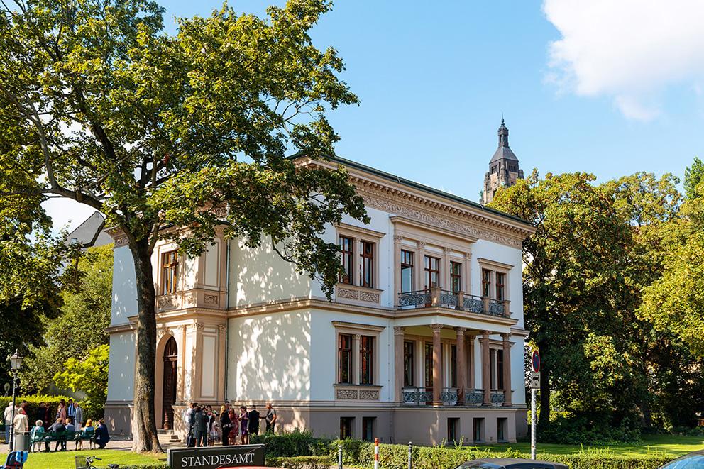 Die Villa Kogge ist das Standesamt in Berlin Charlottenburg