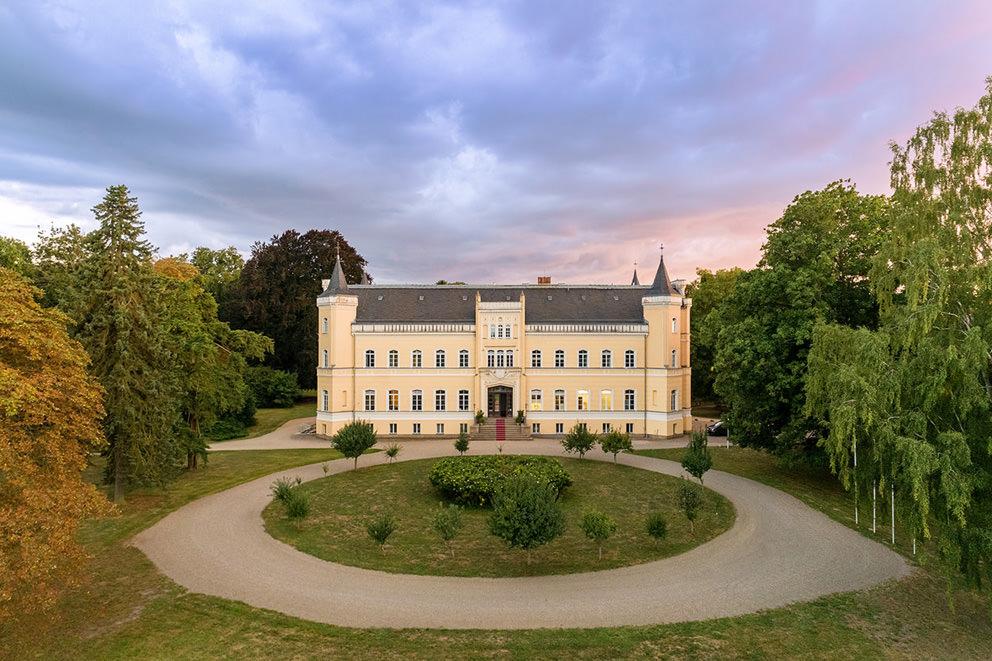Drohnenfoto Uckermark Schloss Kroechlendorff