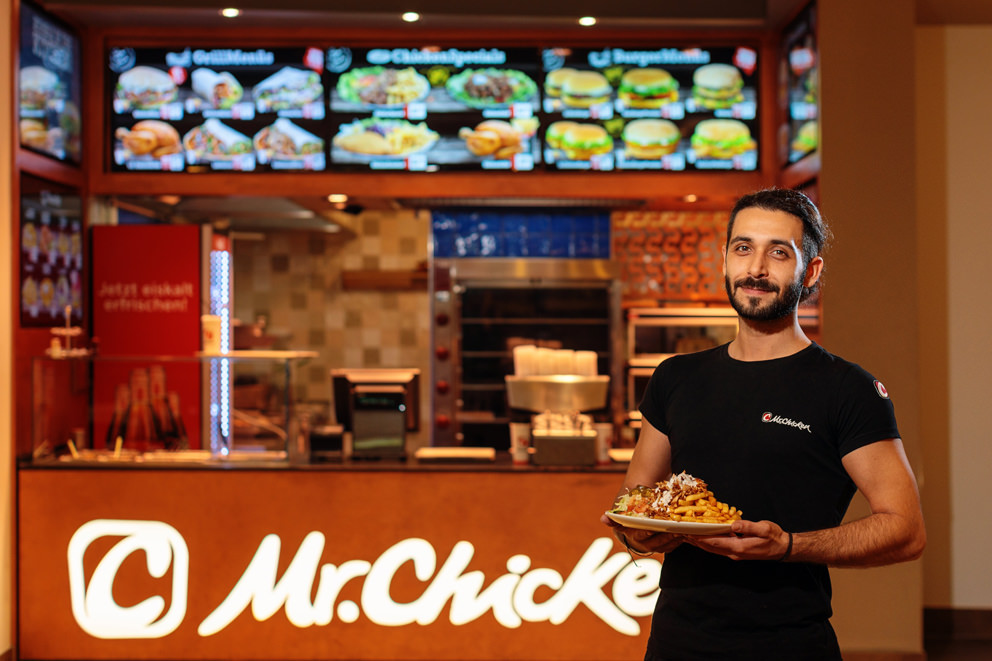 Inhaber Portrait Fastfood Restaurant