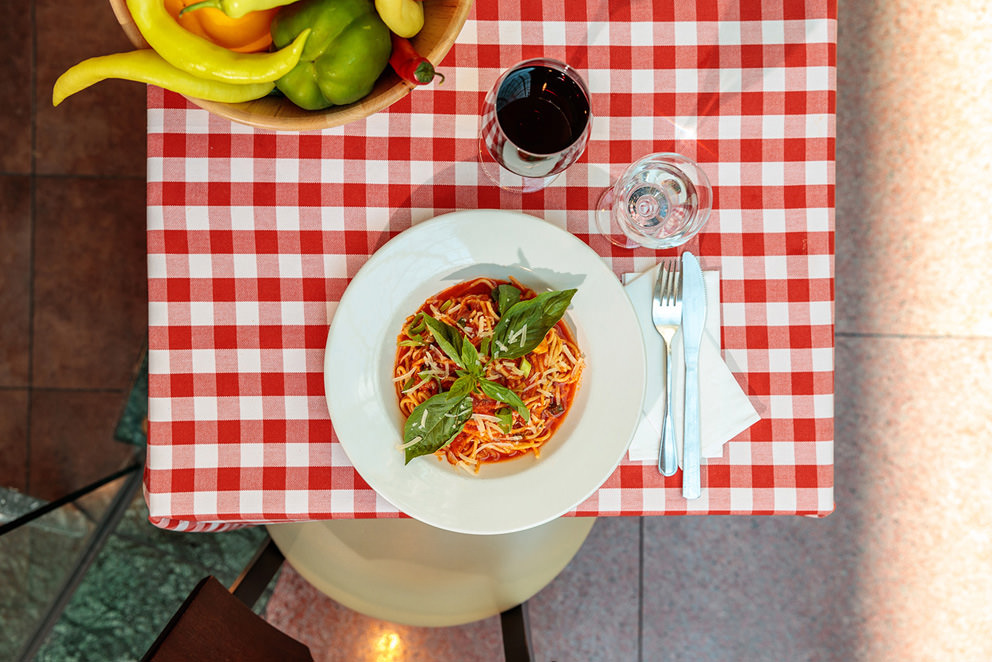 Spaghetti Bolognese in einem italienischen Restaurant Foodfoto