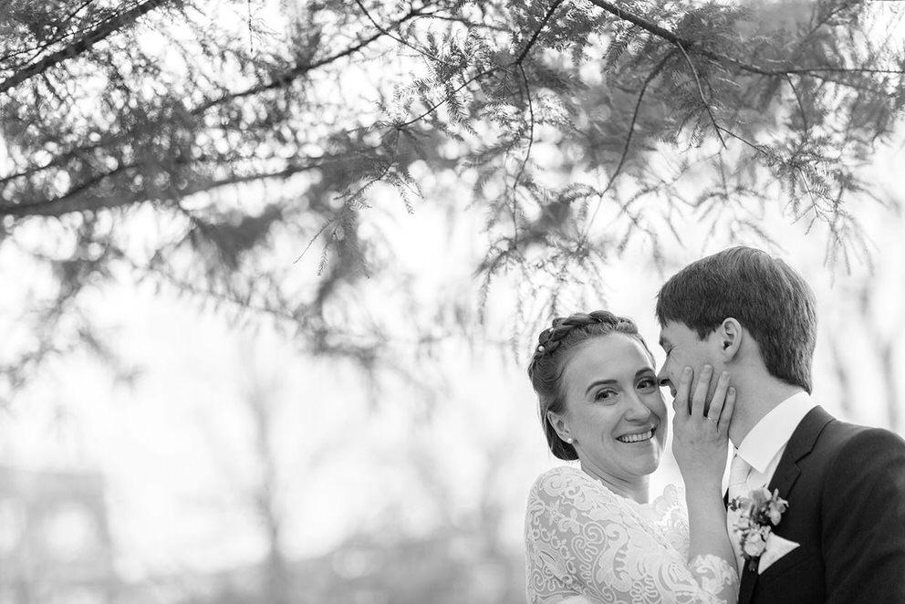 Brautpaar am Bassinplatz in Potsdam