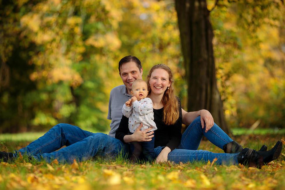 Familienfotos im Park selber fotografieren