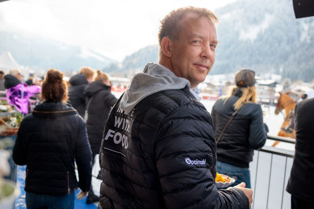 Optimahl Catering Inhaber beim Snow Polo World Cup Kitzbühel Finale