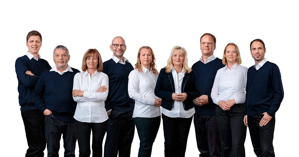 Aus Einzelfotos zusammengestelltes Gruppenfoto: ideal in der Corona Zeit und bei Teams mit Fluktuation