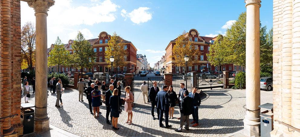 Blick in die Brandenburger Strasse in Potsdam