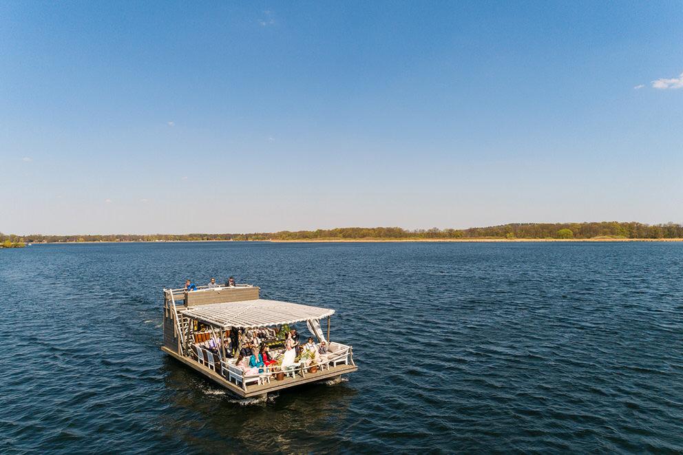 Bootstour mit Drohnen über den Schwielowsee bei Werder/Havel