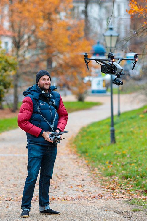Drohne mieten in Berlin und Potsdam: DJI Inspire2 inkl. Pilot und Wechselobjektive für Foto- und Filmproduktion