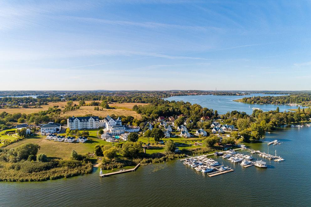 Resort Schwielowsee aus der Luft mit Drohne fotografiert