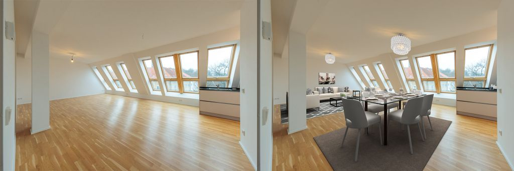 Virtual Home Staging von Immobilienfotografen in Berlin und Potsdam