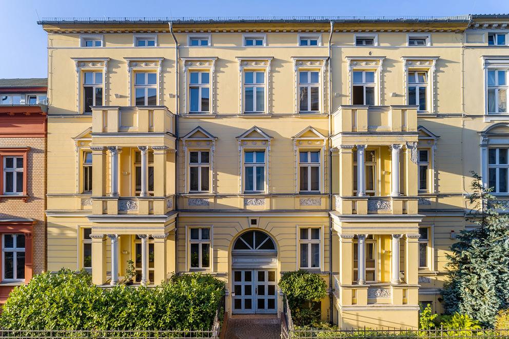 Luftbild vom Architekturfotograf für eine Klinik in Brandenburg