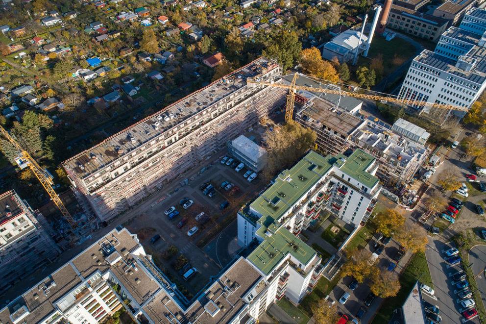 Luftbilder einer Baustelle vom Drohnenfotograf