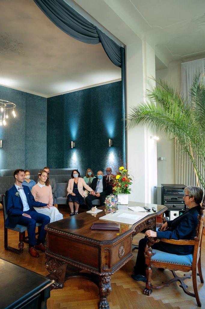 Hochzeit zu Corona im Standesamt Potsdam