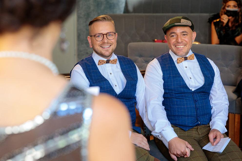 Gleichgeschlechtliche Trauung in Potsdam zur Corona Zeit
