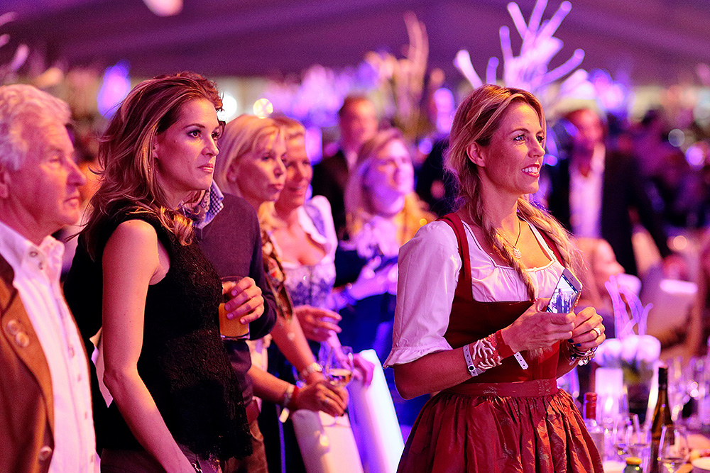 Guests watching the amazing show during the Polo Gala Night