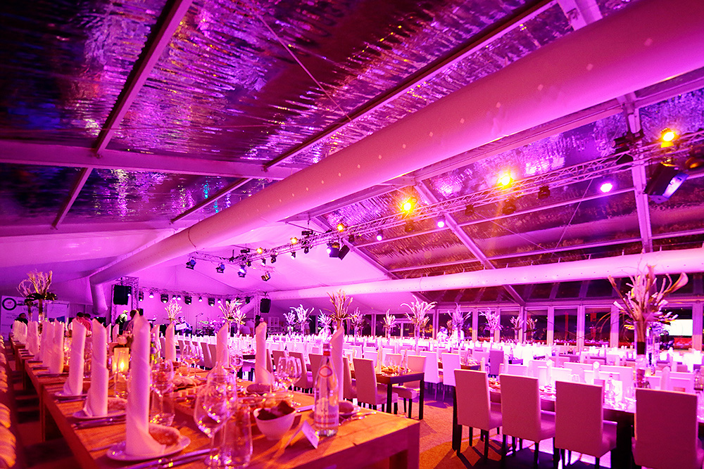 Inside the VIP tent during the Polo Gala Night