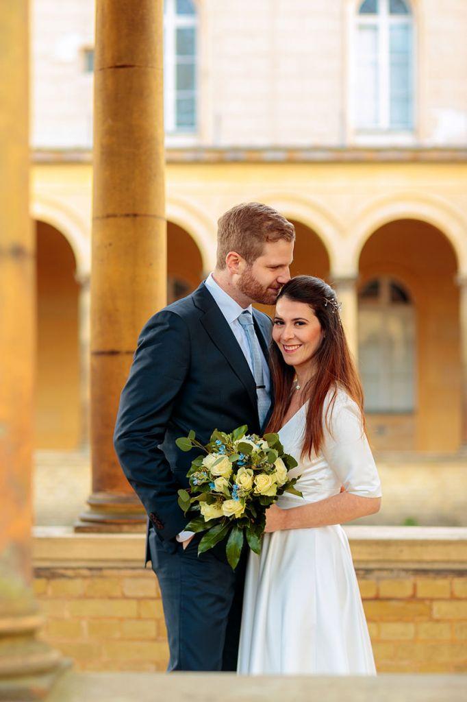 Intime Hochzeit zu zweit im Winter zur Corona Zeit