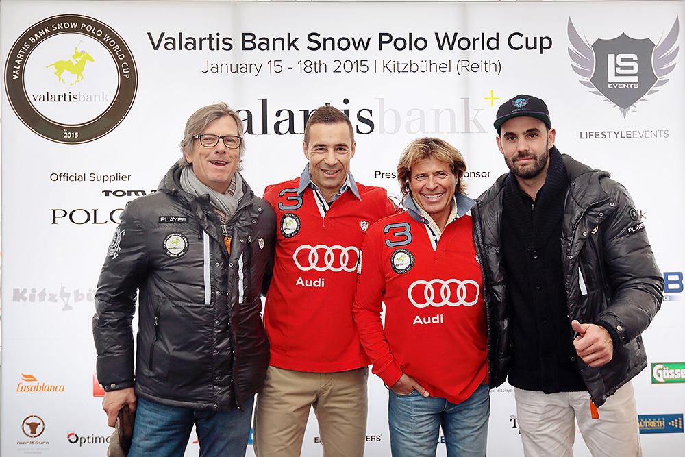 Kai Pflaume und Hansi Hinterseer zu Gast beim Valartis Snow Polo World Cup in Kitzbühel