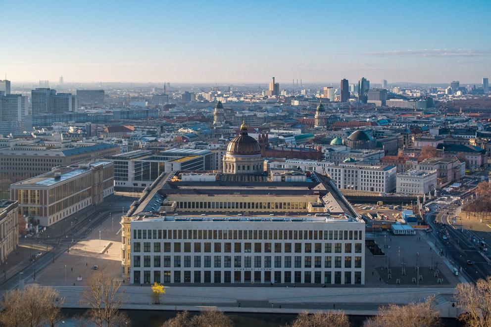 Drohnenfoto einer Baustelle zur Dokumentation in Berlin