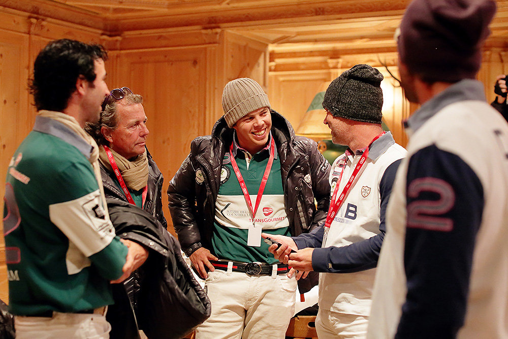 Polo players before the players presentation in Kitzbuehel