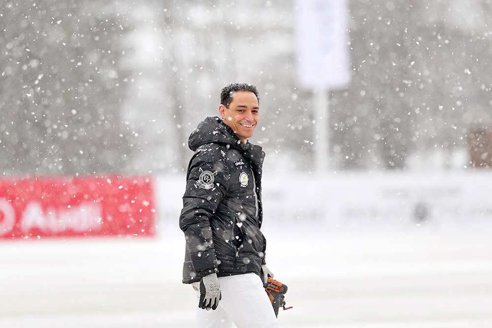 Snowy day at the Snow Polo World Cup Kitzbühel