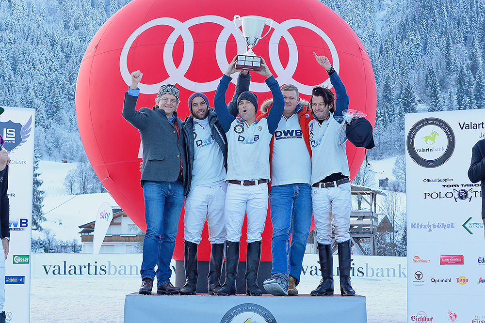 Winner team of the 2015 Snow Polo World Cup in Kitzbühel Austria