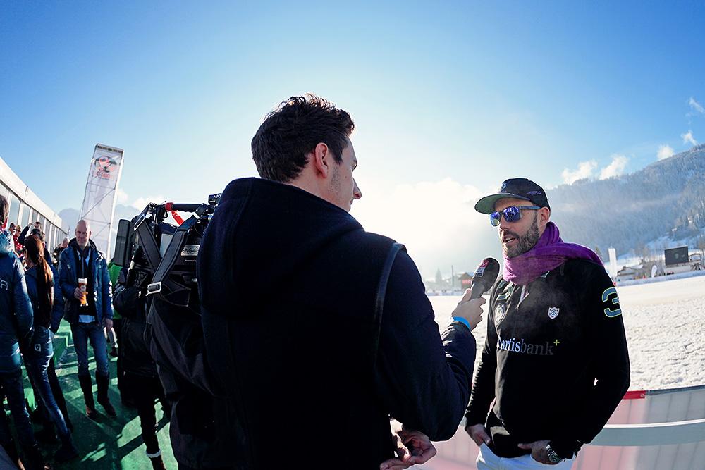 Tito Gaudenzi giving an interview