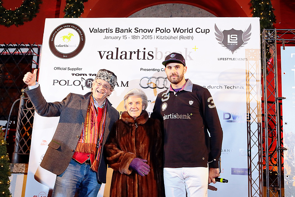 Teams and players presentation in Kitzbuehel