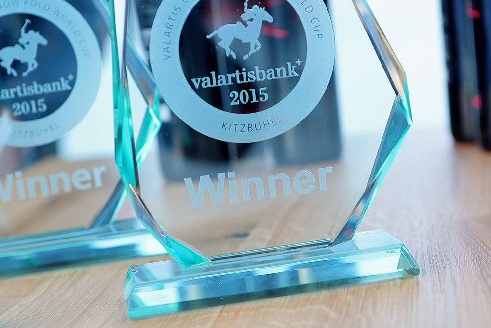 The winners trophy of the Snow Polo World Cup 2015 Kitzbühel