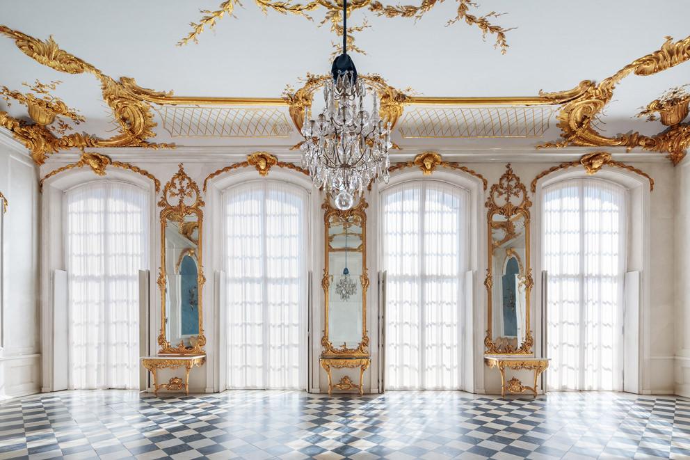 Innenaufnahme der Einrichtung in einem Schloss von Architekturfotograf in Berlin Reinhardt & Sommer