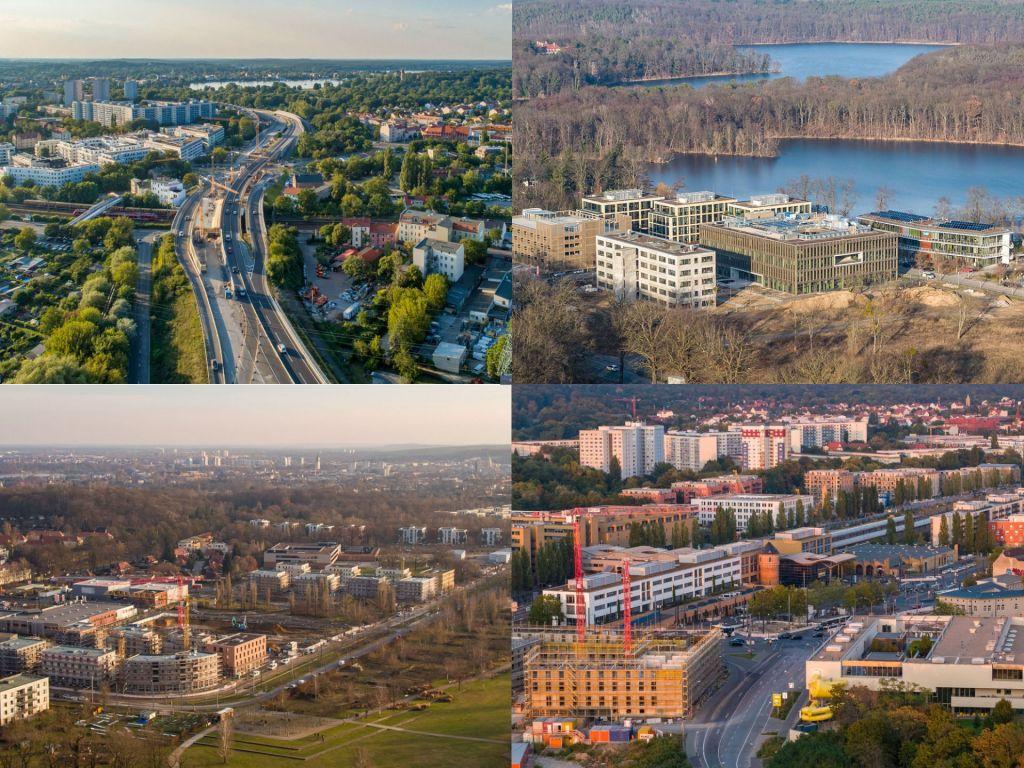 Baustellen und Baudokumentation von großen Straßen- und Bauprojekten in der Landeshauptstadt