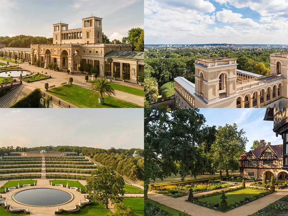 Potsdams Schlösser und Parks in Luftaufnahmen: Luftbilder mit Drohne
