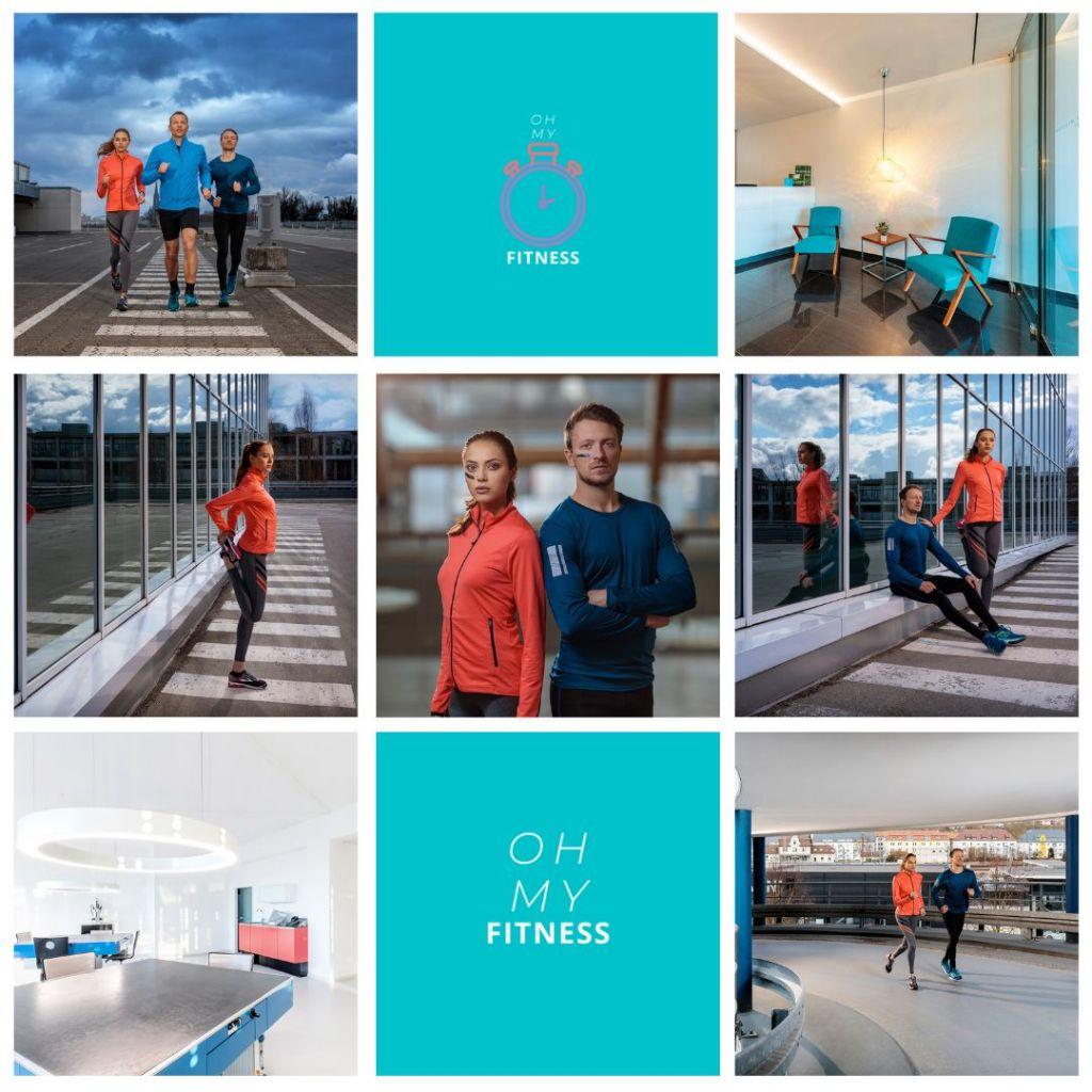 Moodboard für eine Social Media Betreuung von Fitness Studio