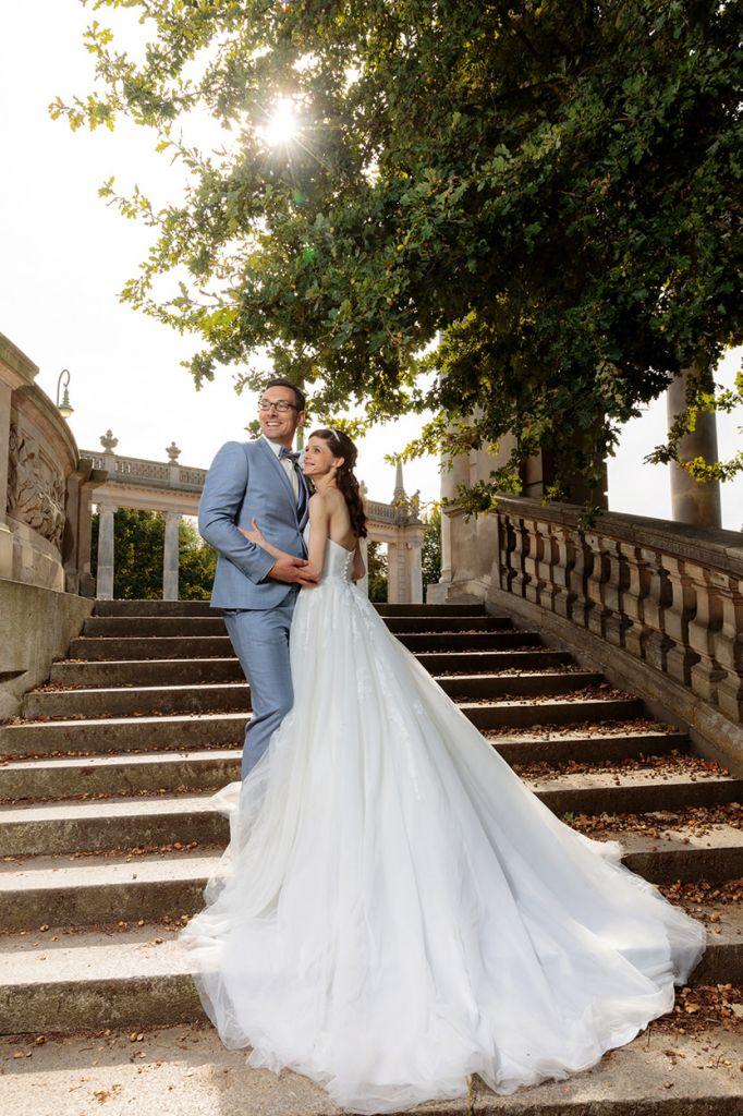 Brautpaarfotos nach der Trauung an der Glienicker Brücke in Potsdam