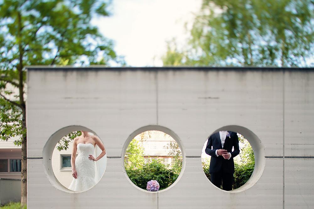 Ausgefallene, moderne Hochzeitsfotos in Potsdam
