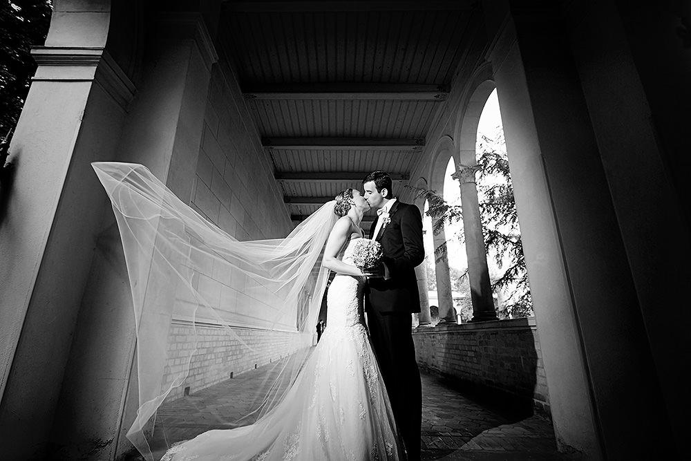 Hochzeitsfotos auf dem Gelände der Friedenskirche Potsdam