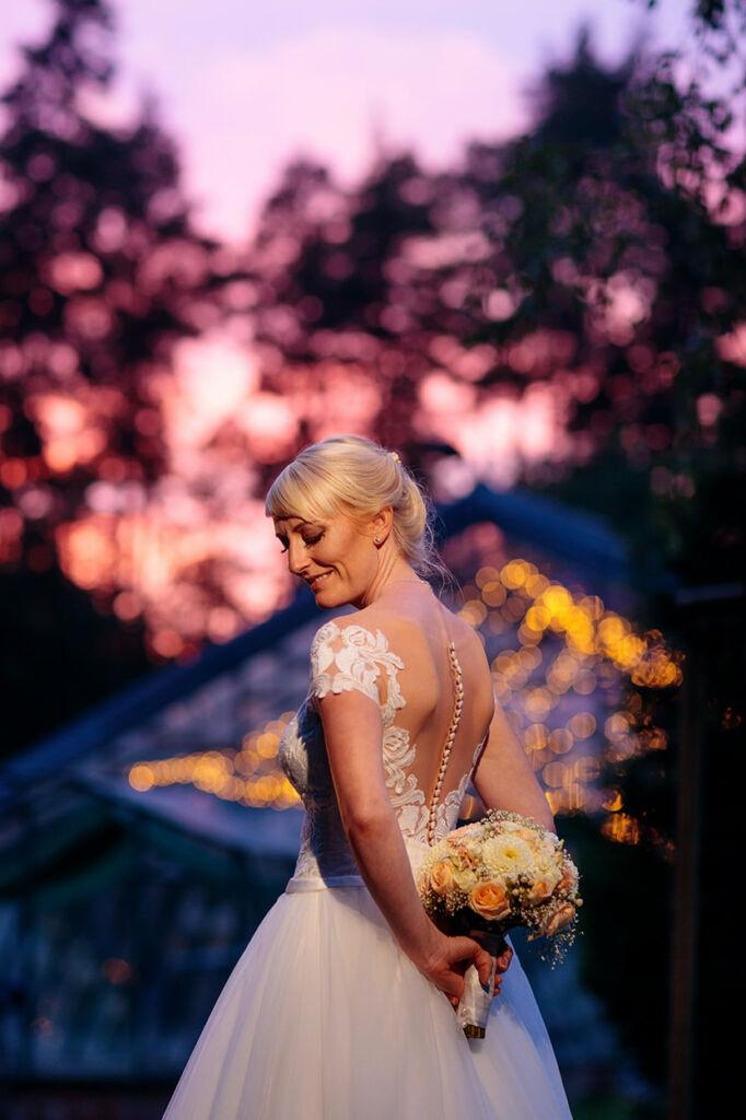 Brautportrait bei Sonnenuntergang