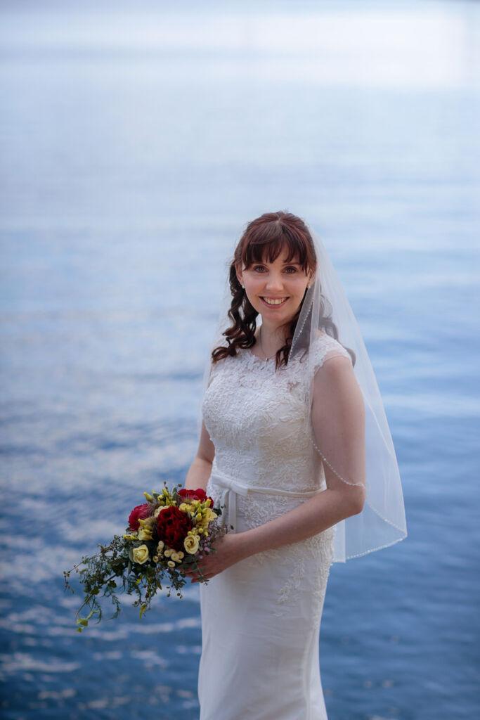 Braut im Kladower Hafen
