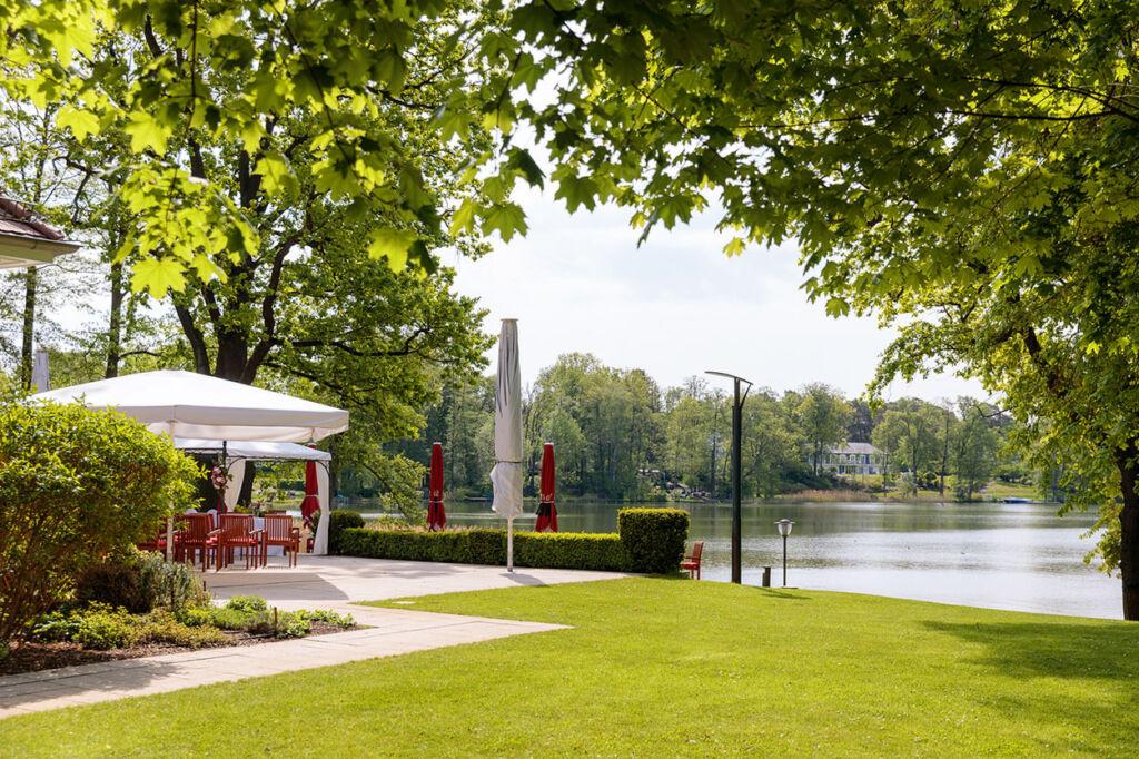 Garten vom Parkcafé in Bad Saarow