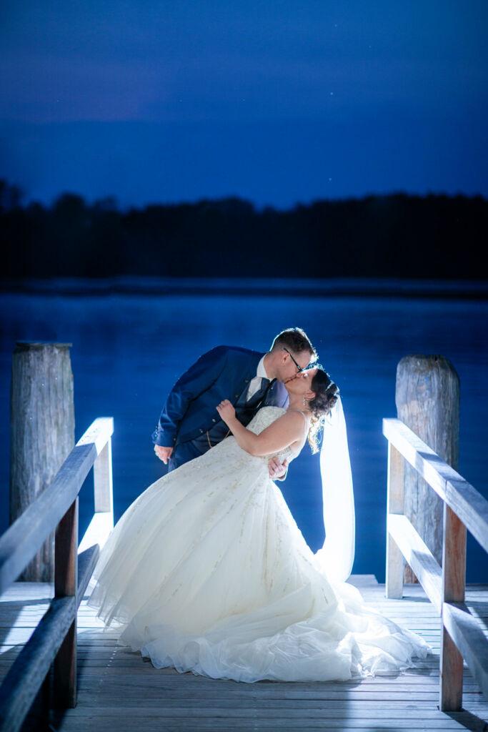 Hochzeitsfotos zur Blauen Stunde am Scharmützelsee