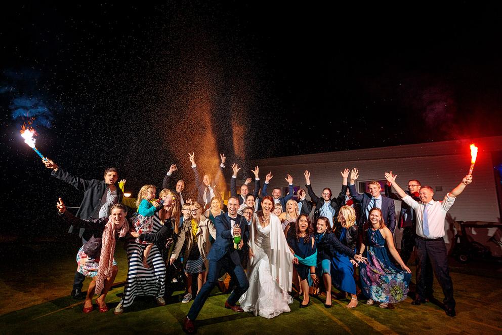 Sekt Explosion bei Hochzeitsfeier in Bad Saarow