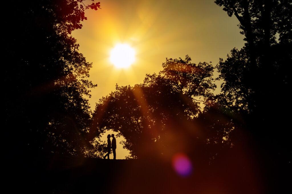 Verlobungsbilder bei Sonnenuntergang in Potsdam